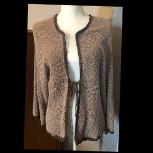 Chico's Brown Tie-front Sweater Cardigan